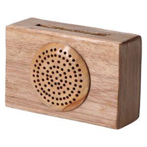 Altavoz de Madera Radio 1 Clara para Smartphone, 100% Vegetal. Amplificador sin Consumo eléctrico. Artesano