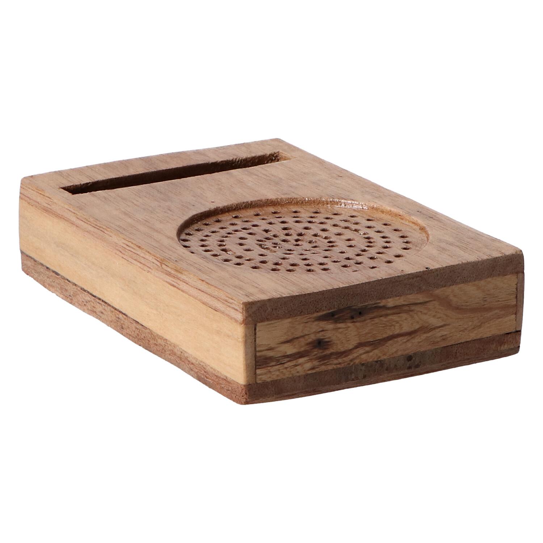 altavoz de madera radio