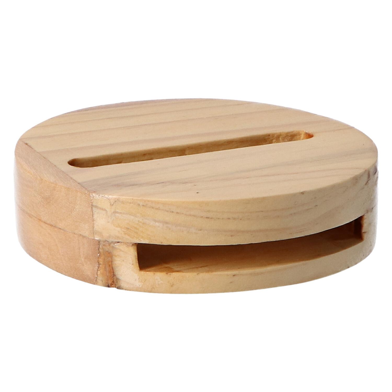 altavoz madera platillo claro