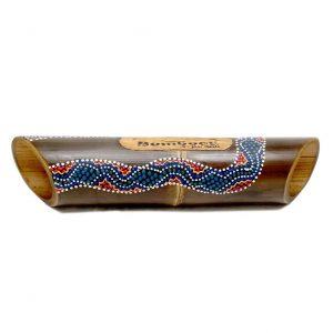 Altavoz bambú pintado
