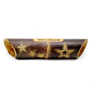 altavoz bambú grabado estrella