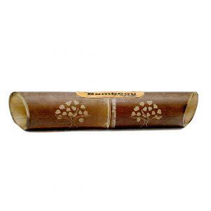 altavoz bambú grabado árbol de la vida