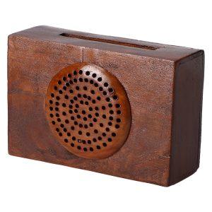 Altavoz de Madera Radio 1 Oscura para Smartphone, 100% Vegetal. Amplificador sin Consumo eléctrico. Artesano