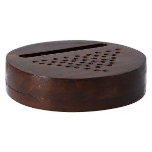 Altavoz madera Platillo Oscuro para Smartphone, 100% Vegetal. Soporte sin Consumo eléctrico. Artesano