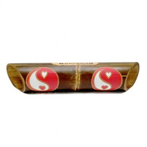 Altavoz bambú pintado Yin Yang Heart